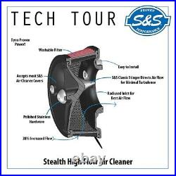 Harley Dyna Softail Twin Cam Retro S&S Stealth Tribute air cleaner kit Black