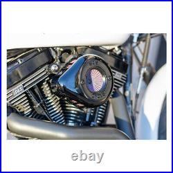 Harley Dyna Softail Twin Cam S&S Air Black Stinger Stealth Teardrop air cleaner
