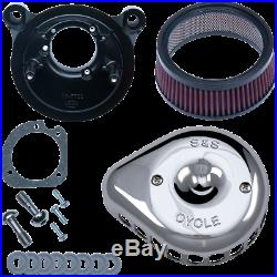 Mini Stealth Air Cleaner Kits for Harley-Davidson S & S Cycle Chrome170-0441