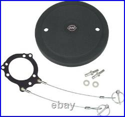 SS Cycle Stealth Air Cleaner Cover 170-0190 48-4001 Black Aluminum