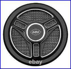 S And S Cycle Stealth Air Cleaner Covers, Black 170-0210