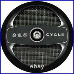 S&S 1014-0173 Cycle Black Air-1 Stealth Air Cleaner Cover Harley Models