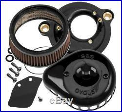 S&S 170-0436A Black Stealth Mini Teardrop Air Cleaner 17-20 Harley Touring M8