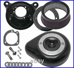 S&S 170-0499 Stealth Teardrop Air Cleaner Kit Carbon Fiber 01-17 Harley Twin Cam