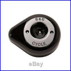 S&S 170-0531 Gloss Black Stealth Teardrop Air Cleaner Cover Harley M8