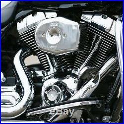 S&S 170-0594 Chrome Stealth Tribute Air Cleaner Kit Harley Twin Cam FL 08-17