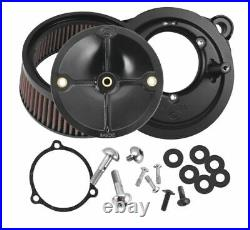 S&S Air Cleaner Kit, TBW, Stealth, 58mm Throttle Body, Harley Big Twin 2008+