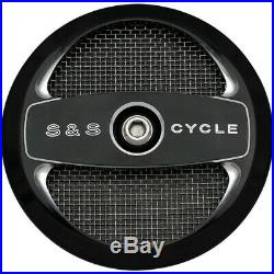 S&S Black Air 1 Cover Super Stock Stealth Air Cleaner Stage 1 Harley