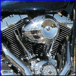 S&S Chrome Airstream Cover For Super Stock Stealth Air Cleaner Stage One Harley