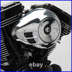 S&S Chrome Billet Tear Drop Stealth Air Cleaner Filter Replacement Cover Harley