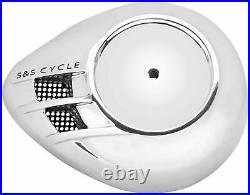 S & S Cycle 170-0118 Stealth Air Cleaner Covers Chrome Air Stream