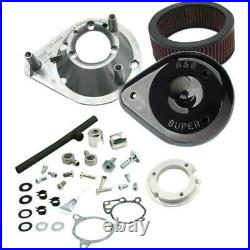 S&S Cycle 170-0165 Super Stock Stealth Air Cleaner Kit for S&S Engines