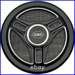 S&S Cycle 170-0210 Stealth Air Cleaner Cover Tri-Spoke