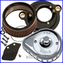 S&S Cycle 170-0435C for Mini Teardrop Stealth Air Cleaner Kit Chrome