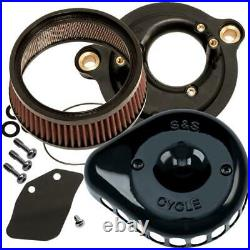 S&S Cycle 170-0436C for Mini Teardrop Stealth Air Cleaner Kit Gloss Black