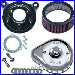 S&S Cycle 170-0437 for Mini Teardrop Stealth Air Cleaner Kit Chrome