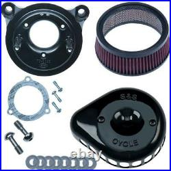 S&S Cycle 170-0438 for Mini Teardrop Stealth Air Cleaner Kit Gloss Black