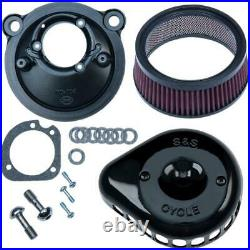 S&S Cycle 170-0440C for Mini Teardrop Stealth Air Cleaner Kit Gloss Black