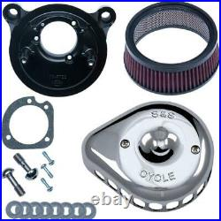 S&S Cycle 170-0441 for Mini Teardrop Stealth Air Cleaner Kit Chrome