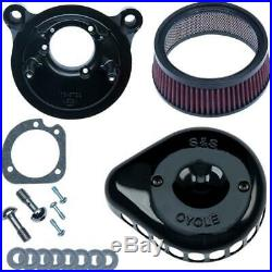 S&S Cycle 170-0442 for Mini Teardrop Stealth Air Cleaner Kit Gloss Black