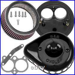 S&S Cycle 170-0444A for Mini Teardrop Stealth Air Cleaner Kit Black