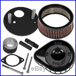 S&S Cycle 170-0446A for Mini Teardrop Stealth Air Cleaner Kit Black