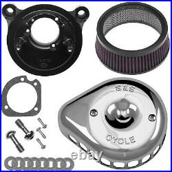 S&S Cycle 170-0449 for Mini Teardrop Stealth Air Cleaner Kit Chrome