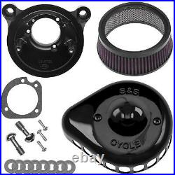 S&S Cycle 170-0450 for Mini Teardrop Stealth Air Cleaner Kit Gloss Black