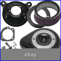 S&S Cycle 170-0499 Stealth Teardrop Air Cleaner Kit Carbon Fiber