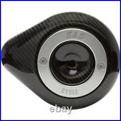 S&S Cycle 170-0501 Stealth Air Cleaner Covers Teardrop Carbon fiber