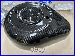 S&S Cycle 170-0501 Stealth Air Cleaner Covers, Teardrop Carbon fiber