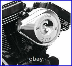 S & S Cycle 170-0524 Stealth Teardrop Air Cleaner Kits Chrome