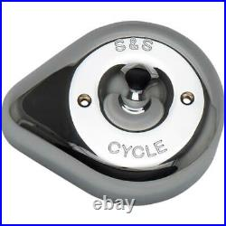 S&S Cycle 170-0530 Stealth Air Cleaner Covers Teardrop Chrome