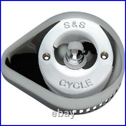 S&S Cycle 170-0532 Stealth Air Cleaner Covers Slasher Teardrop Chrome