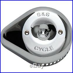 S&S Cycle 170-0532 Stealth Air Cleaner Covers, Slasher Teardrop Chrome