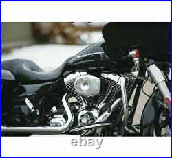 S & S Cycle 170-0594 Stealth Air Cleaner Covers Chrome Tribute