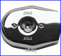 S & S Cycle 170-0596 Stealth Air Cleaner Covers Chrome Tribute