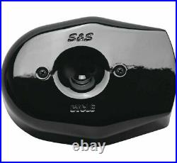 S & S Cycle 170-0599 Stealth Air Cleaner Covers Black Tribute