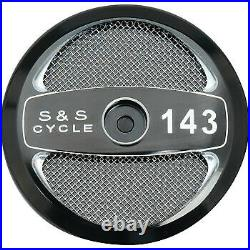 S&S Cycle Air Cleaner Cover Stealth 143 Black 170-0323