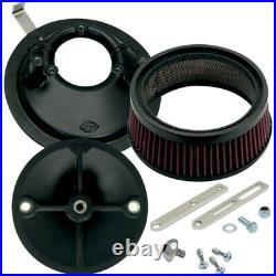 S&S Cycle Air Cleaner Stealth Universal Super E/G Carburetor (Black) 170-0176