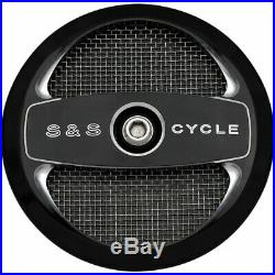 S&S Cycle Black Air-1 Stealth Air Cleaner Cover Harley Models