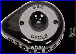 S & S Cycle Black Stealth Mini Teardrop Air Cleaner Covers 170-0366