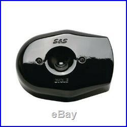 S&S Cycle Black Stealth Tribute Two Throat Air Cleaner Filter Cover Kit Harley