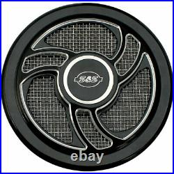 S&S Cycle Black Torker Stealth Air Cleaner Cover Harley Models