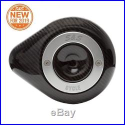 S&S Cycle Carbon Fiber Stealth Air Cleaner Cover 170-0501