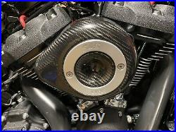 S&S Cycle Carbon Fiber Stealth Mini Tear Drop Air Cleaner Filter Cover Harley
