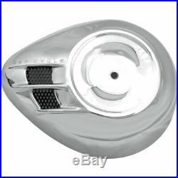 S&S Cycle Chrome Air Stream Stealth Air Cleaner Cover Harley Models