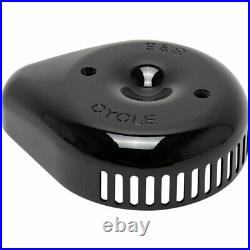 S&S Cycle Gloss Black Slasher Teardrop Cover Fits S&S Stealth Air Cleaners