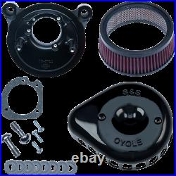 S & S Cycle Mini Teardrop Stealth Air Cleaner Gloss Black for Harley 170-0442