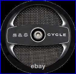 S & S Cycle Stealth Air Cleaner Covers Black Air 1 170-0214